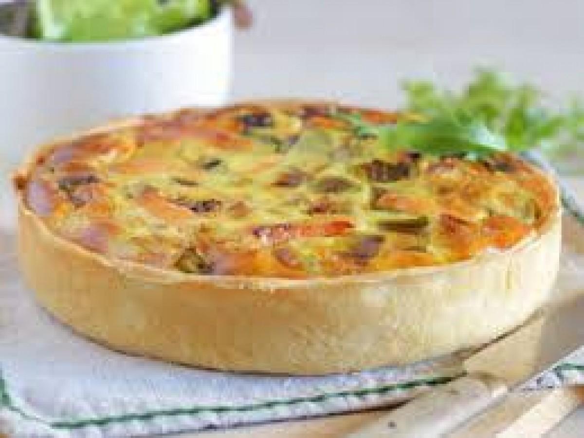 Tarte Saumon, Pomme de Terre, Ciboulette